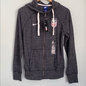 NWT USA Women's Soccer Nike Zip-Front Hoodie Med